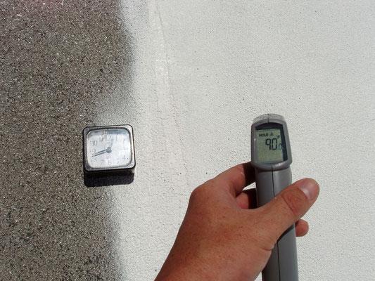 First Coat of Ceramic InsulCoat Roof at 1240PM - 90°F