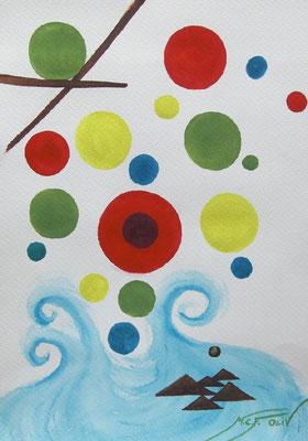 canza de burbujas - 46 x 32,5 cm