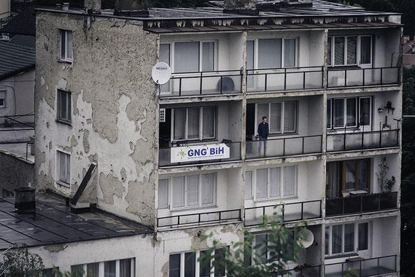 40x60 cm - Les Balkans : ville de Jajce en Bosnie