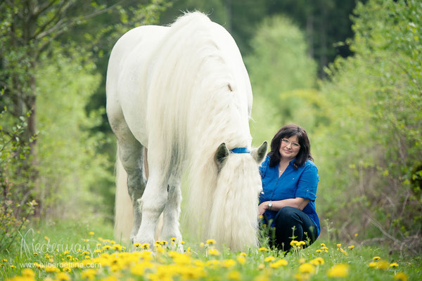Christine und Percheron Pablo