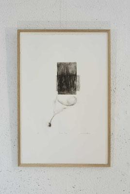 """Peau"", lithographie num. 5/6, 33x50 cm, 2017, photo © Toma Bach"