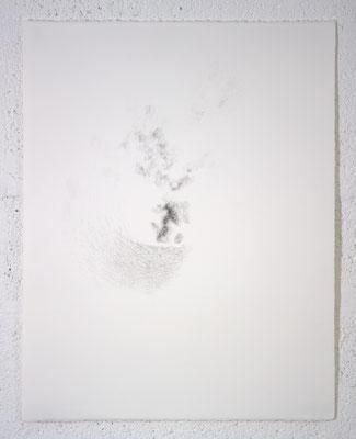 """""""In inconstantia constans. (À l'inachevé)"""", dessin, 50,5x65,5 cm, graphite sur BFK Rives, 2019, photo © David Kidman"""