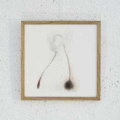 """Série HOME 1 - """"Reliance"""" - Dessin - 21 x 21 cm - crayons de couleur, graphite sur papier à grain - photo © Toma Bach"""