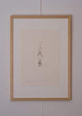 """""""Traversée II"""", gravure au burin sur cuivre num. 4/10, 4,3 x 10,8 cm, 2016, photo © Toma Bach"""