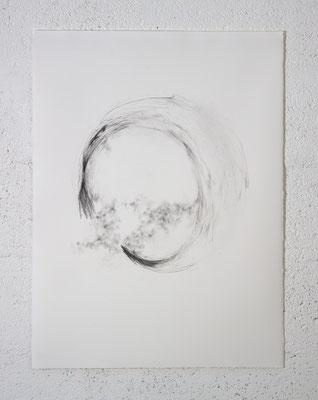 """""""Et les Ombres se mirent à parler"""", dessin, 50x70 cm, graphite sur BFK Rives, 2020, photo © David Kidman"""