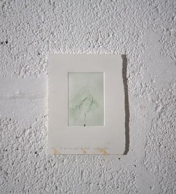 """""""Ce qui est caché de l'œil [10S.7.2/6]"""", Gravure taille-douce, 12,5x16,5 cm, pointe sèche sur zinc, 2018, photo © David Kidman"""