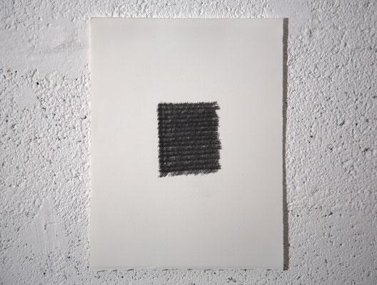 """Je geste"", dessin, graphite sur BFK Rives, 25x32,5 cm, 2019"