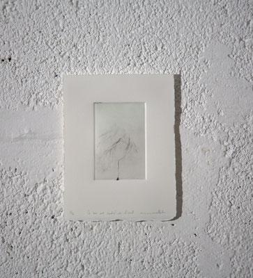 """""""Ce qui est caché de l'œil [11S.4.4/6]"""", Gravure taille-douce, 12,5x16,5 cm, pointe sèche sur zinc, 2018, photo © David Kidman"""