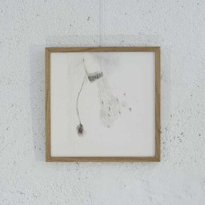 """Série HOME 1 - """"Le Ciel et la Terre"""" - Dessin - 21 x 21 cm - crayons de couleur, graphite sur papier à grain - photo © Toma Bach"""