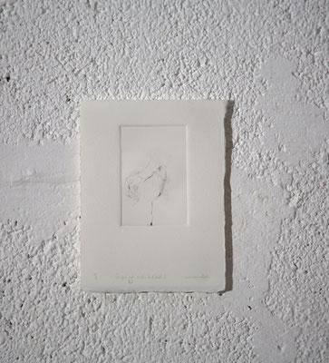 """""""Ce qui est caché de l'œil [BS 0.1/2]"""", Gravure taille-douce, 12,5x16,5 cm, pointe sèche sur zinc, 2018, photo © David Kidman"""