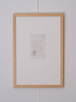 """""""Sanglier"""", gravure num. 6/12, 6 x 9 cm, burin sur zinc, photo © Toma Bach"""