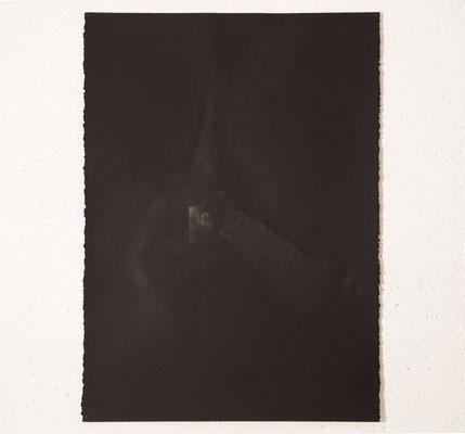 """""""Et la nuit était obscure et elle éclairait la nuit"""", dessin, 66x92 cm, graphite sur Arches, 2020, photo © David Kidman"""