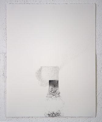"""""""Ce qui est ZACHAR et NEKEVA"""", dessin, 50,5x65,5 cm, graphite sur BFK Rives, 2019, photo © David Kidman"""