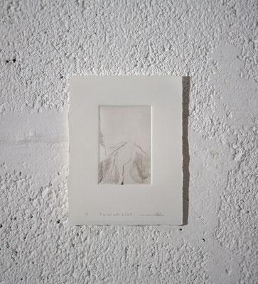"""""""Ce qui est caché de l'œil [10J.8.5/5]"""", Gravure taille-douce, 12,5x16,5 cm, pointe sèche sur zinc, 2019, photo © David Kidman"""