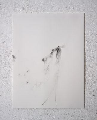 """Genitrix"", dessin, 50x70 cm, graphite sur BFK Rives, 2020, photo © David Kidman"