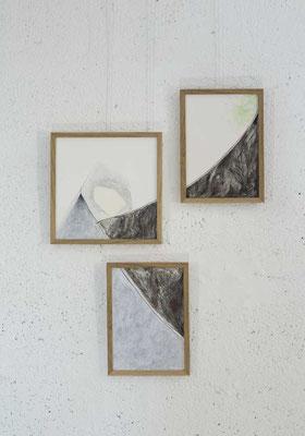 """Série HOME 1 - """"Entrailles"""" - Dessin - 38 x 50 cm - crayons de couleur, graphite sur papier à grain - photo © Toma Bach"""