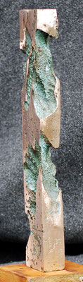 """Erosion #04"" 1/1  2002 -Policrome bronze fusion - cm 15 x 45 h  x 10"