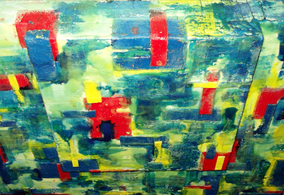 """ Venice #03 "" ( Mose ) 2014 - scented wax stratification on canvas - ( top side) cm 80 x 80 x 15"