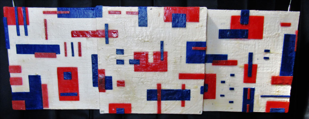 -Untitled # 09 - 2014 (9/50) - scented wax stratification on canvas - ( front side ) cm 120 x 40 x 10