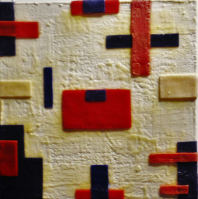 -Untitled # 06 - 2014 (6/50)- scented wax stratification on canvas - ( front) cm 40 x 40 x 5