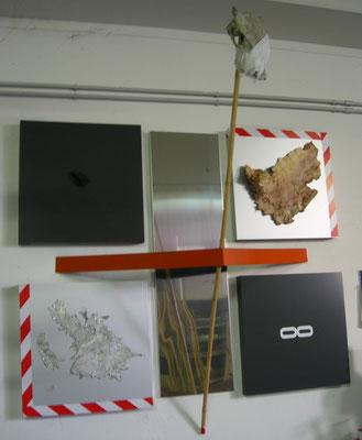"""Alpamayo 95"" Installazione 2009 -materiali vari- cm 180x 150h x 100"