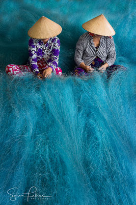 Blue fishing net