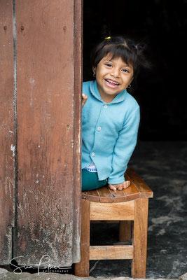 Happy Mayan girl