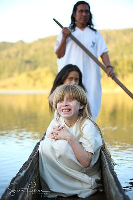 Canoeing in the Lacandon lagoon