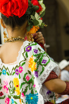 Colourful Yucatan costume