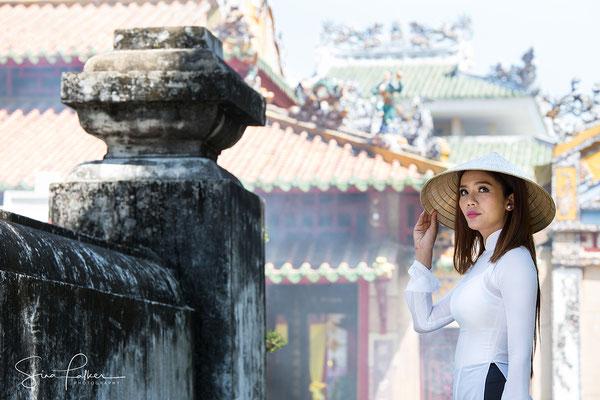 Ao Dai Lady in Ho Chi Ming City