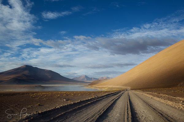 Driving through the Bolivian High Plateau