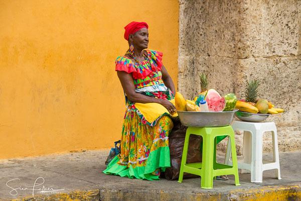Fruitseller in Cartagena