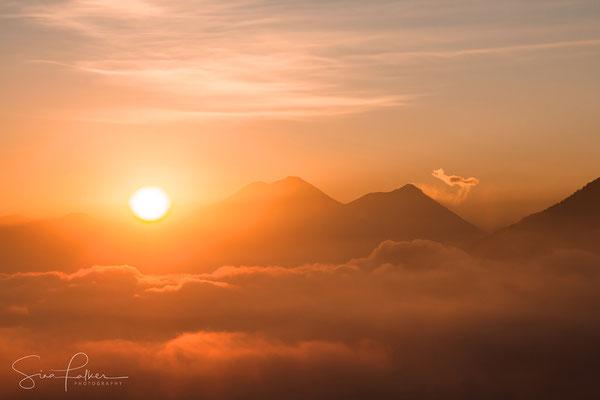 Sunrise at lake Atitlán