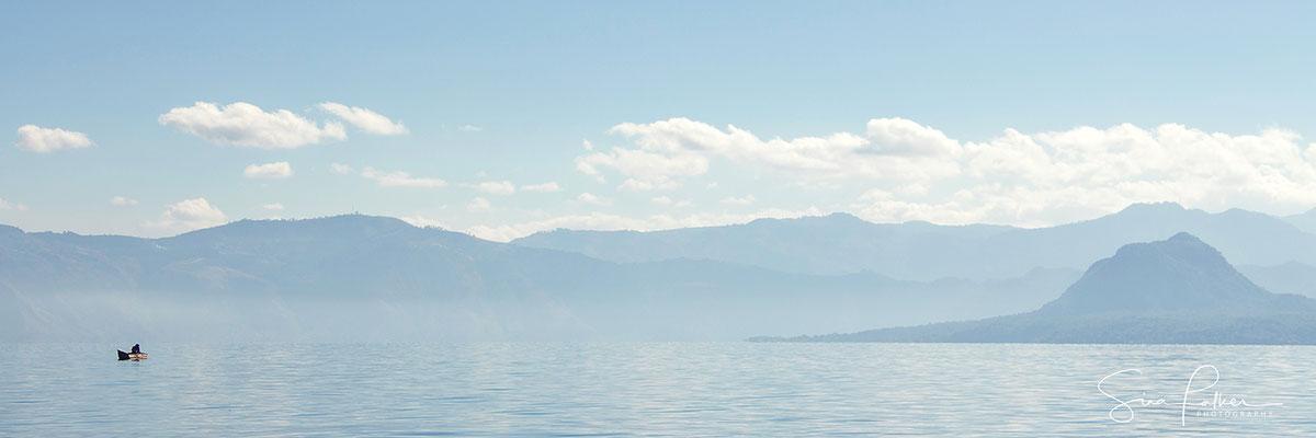 Misty morning at lake Atitlán