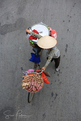 On the way to the market in Hanoi