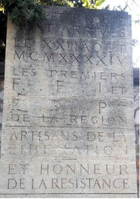 Plaque commémorative FFI