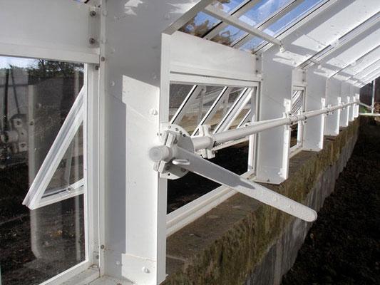 Hartley Botanic englischer Viktorianischer Gewächshaus  Fensterhebel