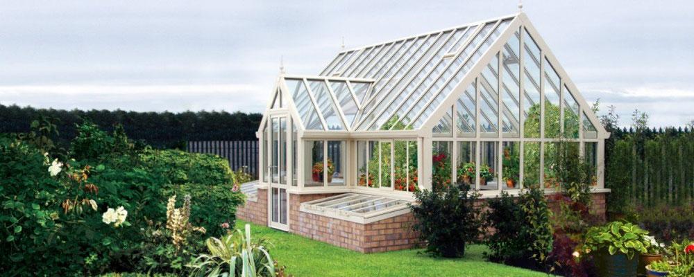 """englische Gewächshäuser von Hartley Botanic """"OPUS Grand Botanic """""""