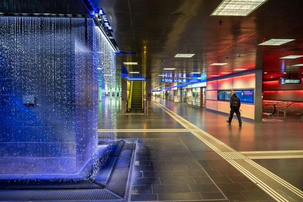 Zutich, train station during Covid