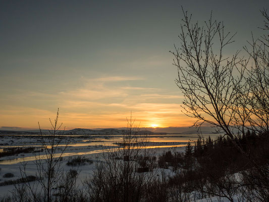 Sunset over Þingvellir