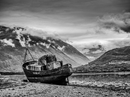 Old boat of Corpach