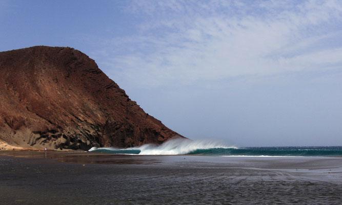 huge swells were rolling in...