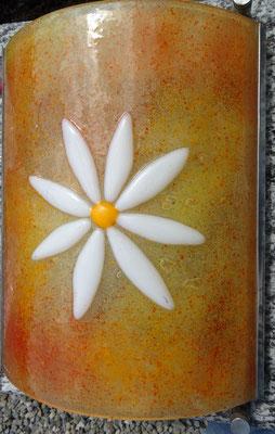 Glasscheibe mit Blume
