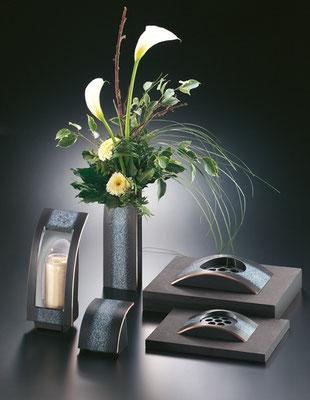 Laternenset mit Vase/Versenkvase und WWK