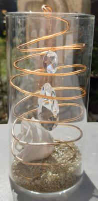 Lampenschutzbecher farbig mit Dekoration