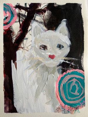 Cats IV, 2018, 30x20cm, Acryl auf Bütte
