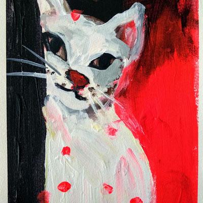 Cats II, 2018, 30x20cm, Acryl auf Bütte