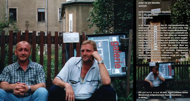 Jeder ist ein Künstler, 2001 - installation at galerie oran, Dresden