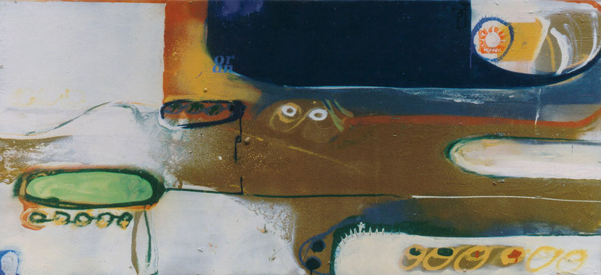 031  interlude    lacquer on wood, ca. 70 x 160 cm, 1999