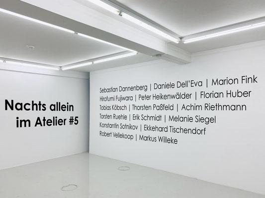 """Nachts allein im Atelier #5""  /  24. November 2018 – 31. Januar 2019  /  Evelyn Drewes Galerie, Hamburg"